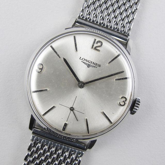 Longines Ref. 7855 -2 steel vintage wristwatch, circa 1967