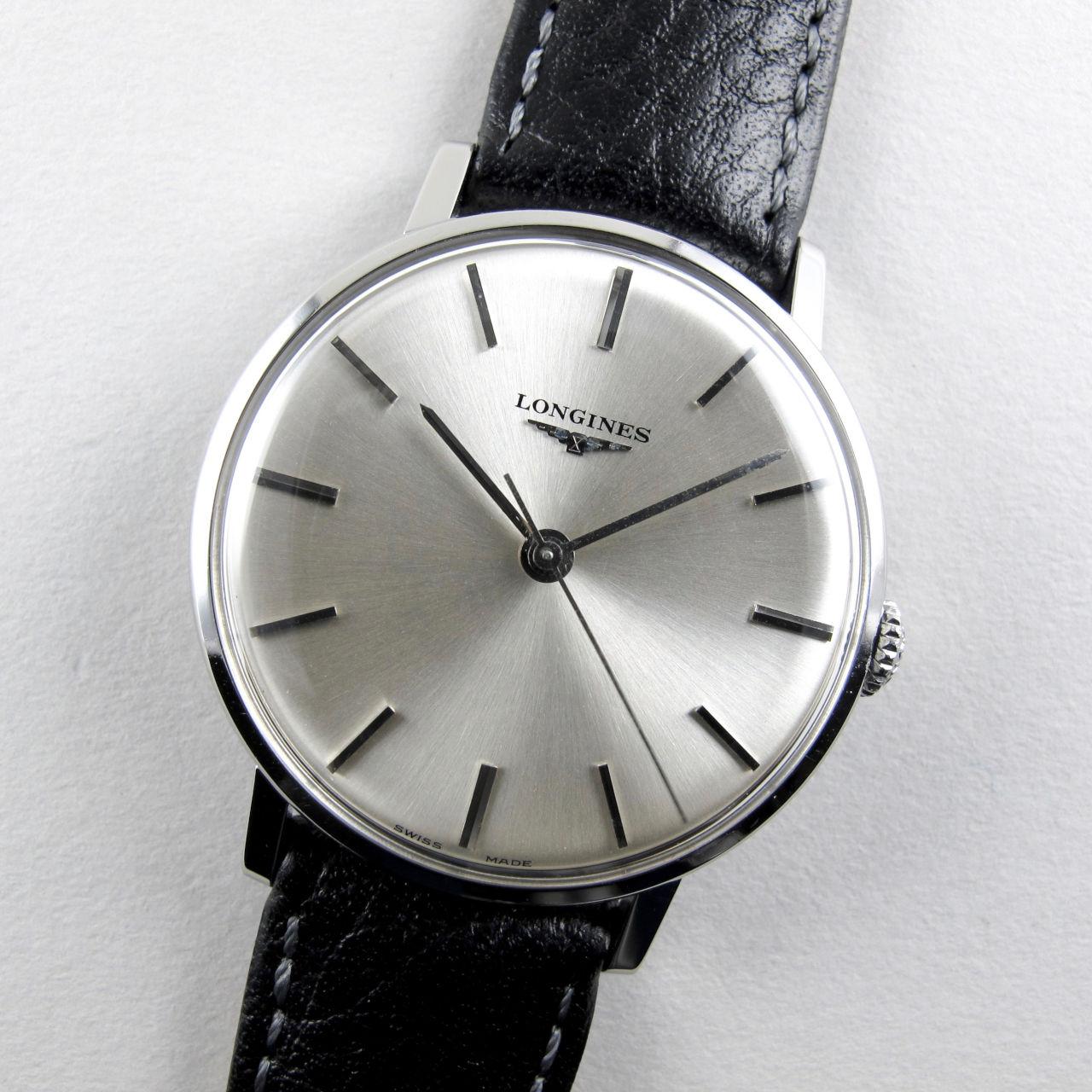 Longines Ref. 8901 -1 steel vintage wristwatch, circa 1965