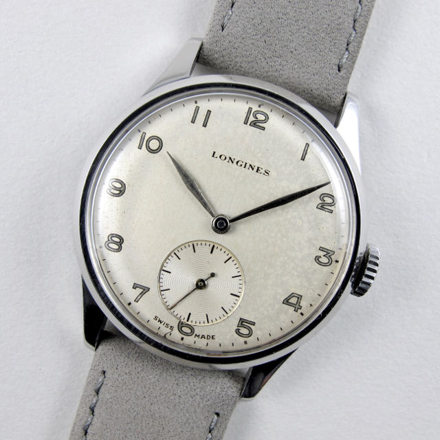Longines steel vintage wristwatch, circa 1952