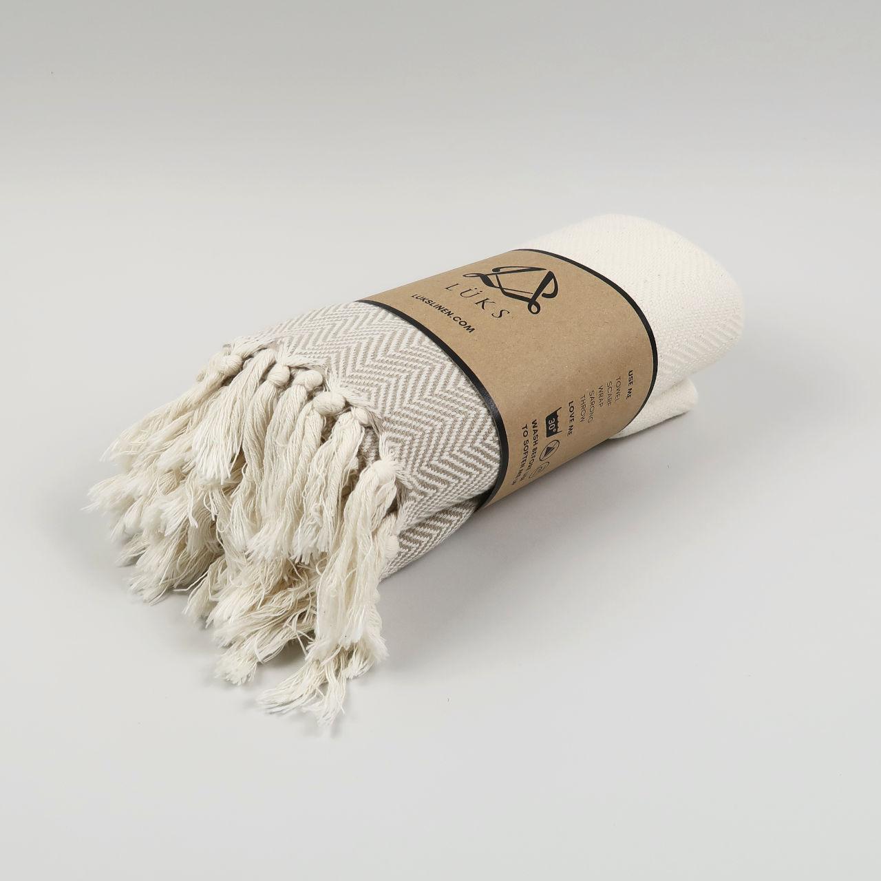 Ferah Organic Cotton Peshtemal - Oyster