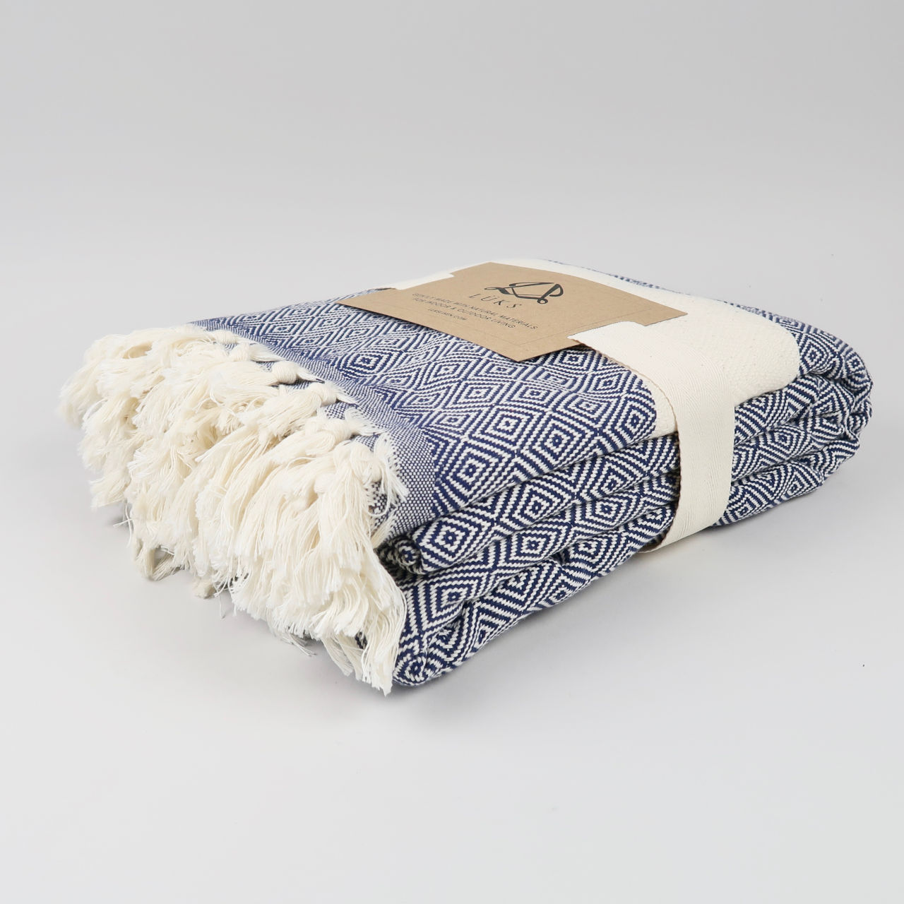 Navy Damla Blanket