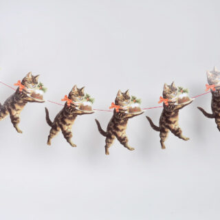 Christmas Cat Garland