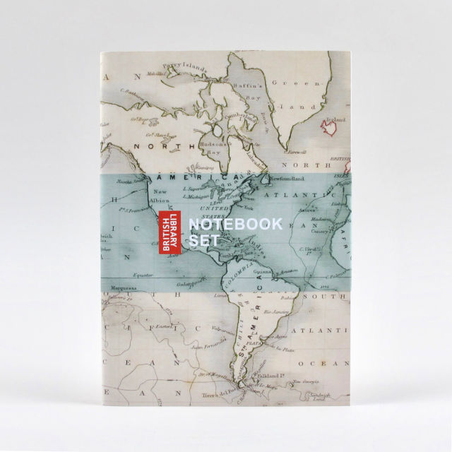 British Library Map Notebook Set