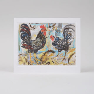 Black Cockerel's Card by Mark Hearld