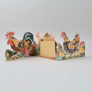 Mark Hearld Die Cut Card - Chickens