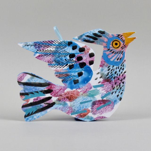 Hanging Bird Card by Mark Hearld