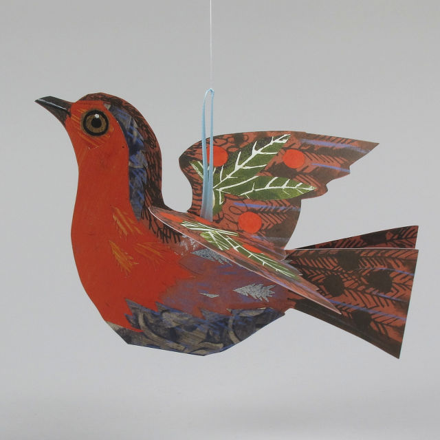 Flying Robin card by Mark Hearld