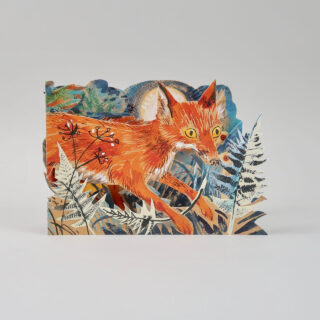 Mark Hearld Die Cut Card - Fox