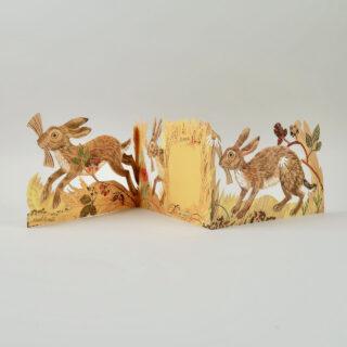 Mark Hearld Die Cut Card - Hares