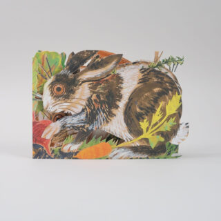Mark Hearld Die Cut Card - Rabbits
