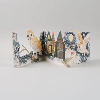 Mark Hearld Die Cut Card - Silent Flight