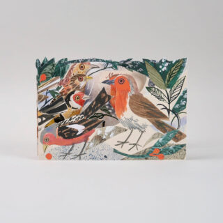 Mark Hearld Die Cut Card - Winter Feast