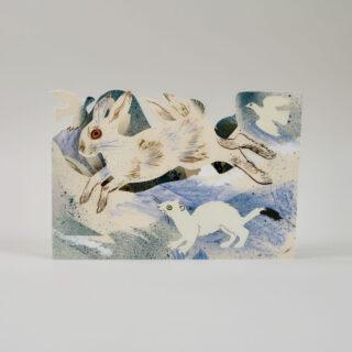 Mark Hearld Die Cut Card - Winter Wildlife