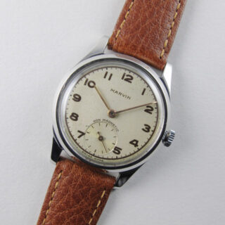 Marvin steel vintage wristwatch, circa 1948