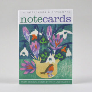 Pack of 10 Notecards by Matt Underwood - Beginning of the Year and Snowdrops and Winter Jasmine