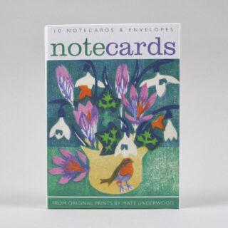 matt underwood notecard set snowdrops beginning 01