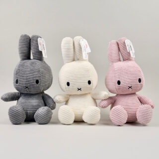 miffy corduroy grey white pink