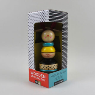 Modern Bunny - Wooden Stacking Toy