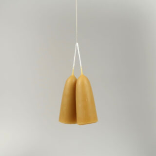 Pair of Stumpie Beeswax Candles