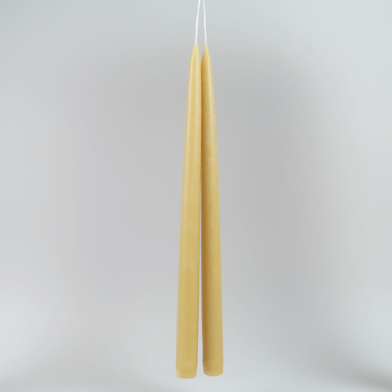 Pair of Tall Beeswax Dinner Candles