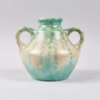 Mottled Twin-Handled Vase