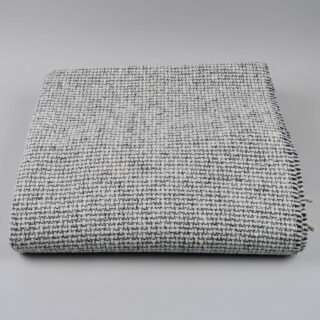 Mended Tweed Blanket - Charcoal Grey
