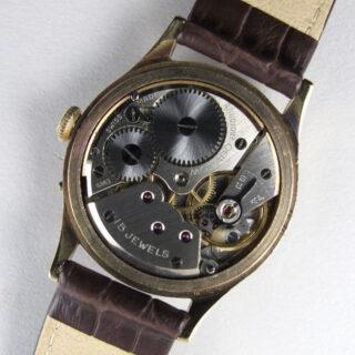Movado Calendoplan gold vintage wristwatch, hallmarked 1953