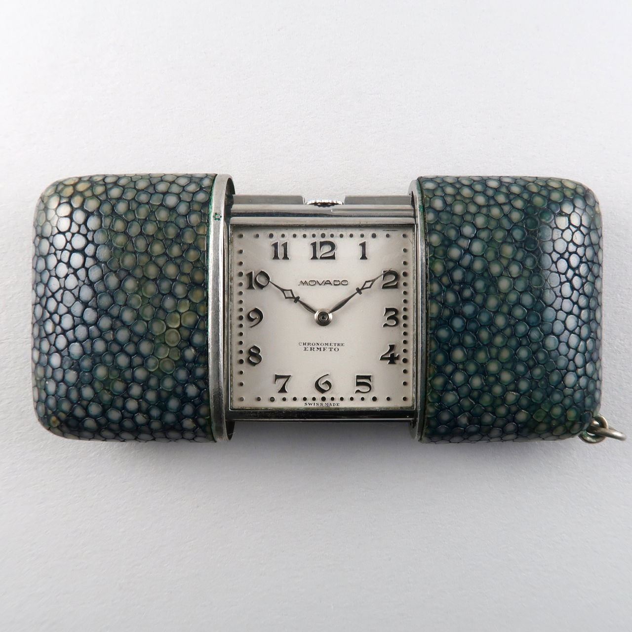 Movado Ermeto Chronomètre circa 1930 | blue shagreen & steel vintage purse watch