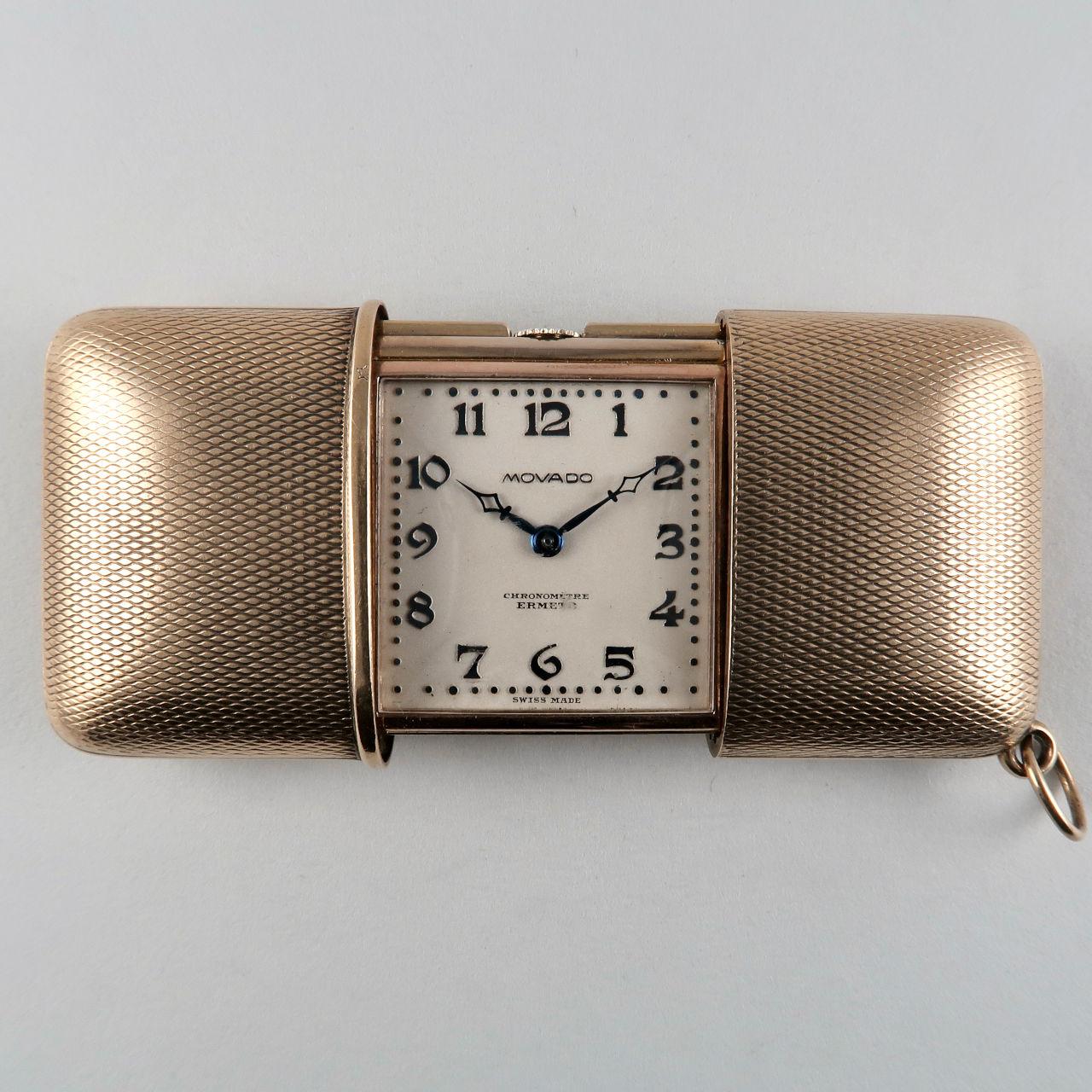 Movado Ermeto hallmarked 1929 | silver gilt purse watch