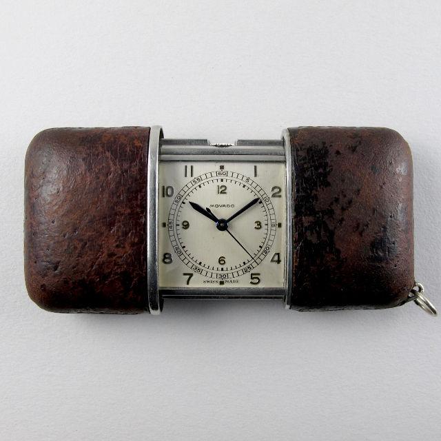 Movado Ermeto vintage travelling watch, circa 1935