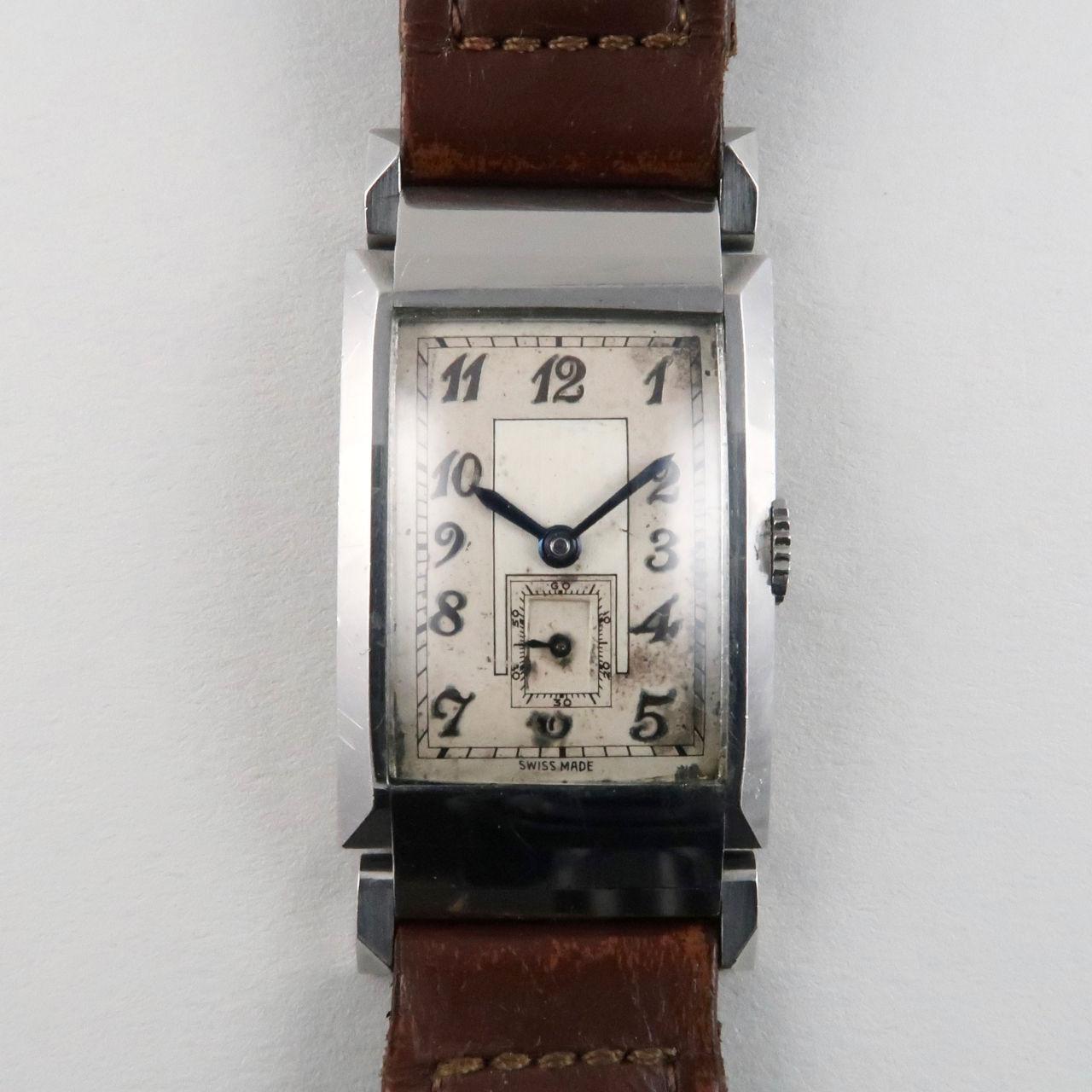 Movado Ref. 11811 steel vintage wristwatch, circa 1935