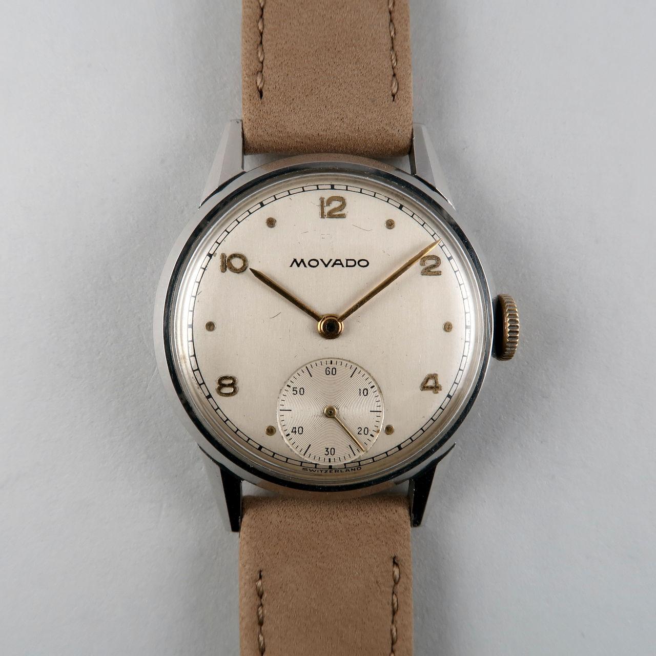 Movado Ref. 18101 circa 1951 | steel vintage hand wound wristwatch