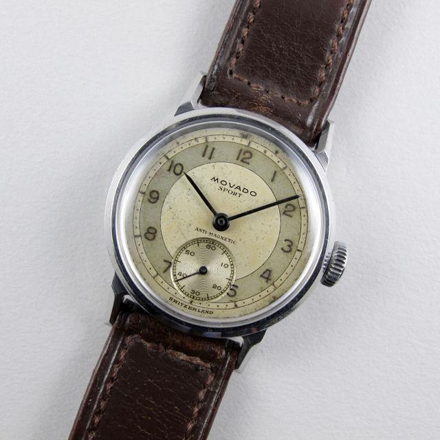 Movado Sport Ref. 11509 steel vintage wristwatch, circa 1945