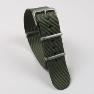 NATO single colour nylon watch straps with matt finished buckle 16mm-24mm