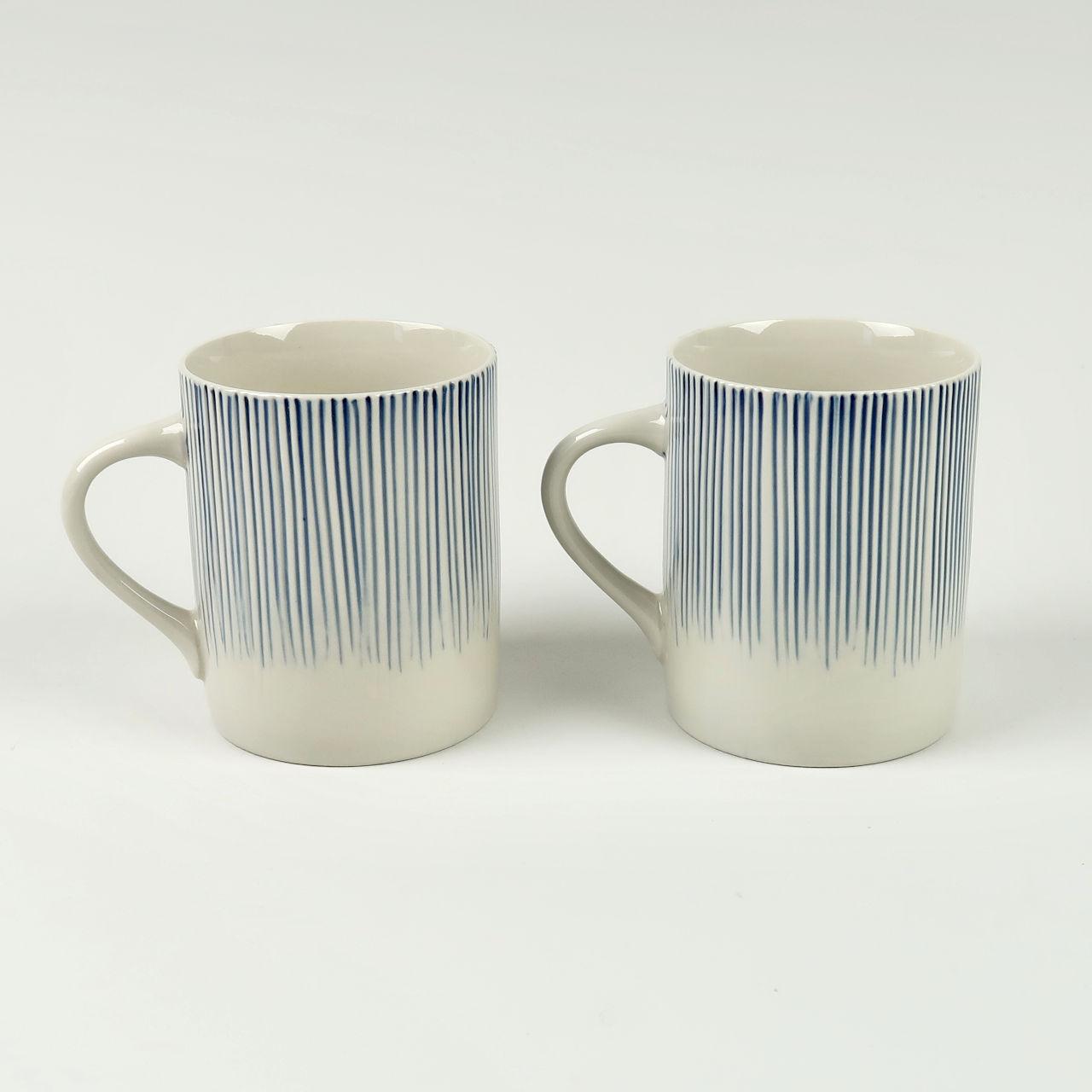 Pair of Tall Karuma Mugs - Blue