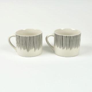 Pair of Short Karuma Mugs - Black