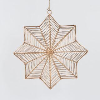 Ngoni Hanging Brass Star - Large