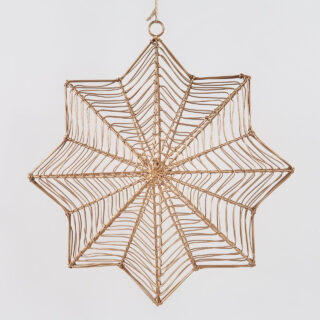 Ngoni Hanging Brass Star - Large