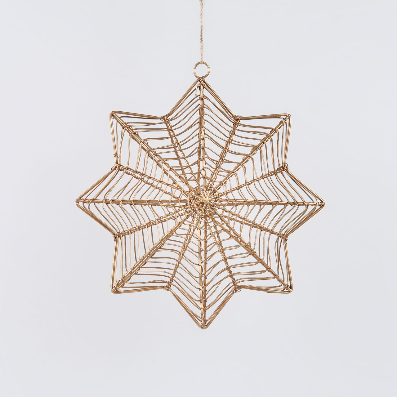 Ngoni Hanging Brass Star - Small