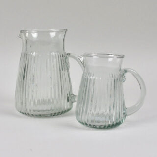 Ribbed Glass Jug - Large