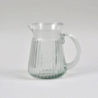 Ribbed Glass Jug - Small