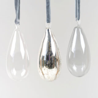Tikari Glass Baubles - Set of 3 - Medium