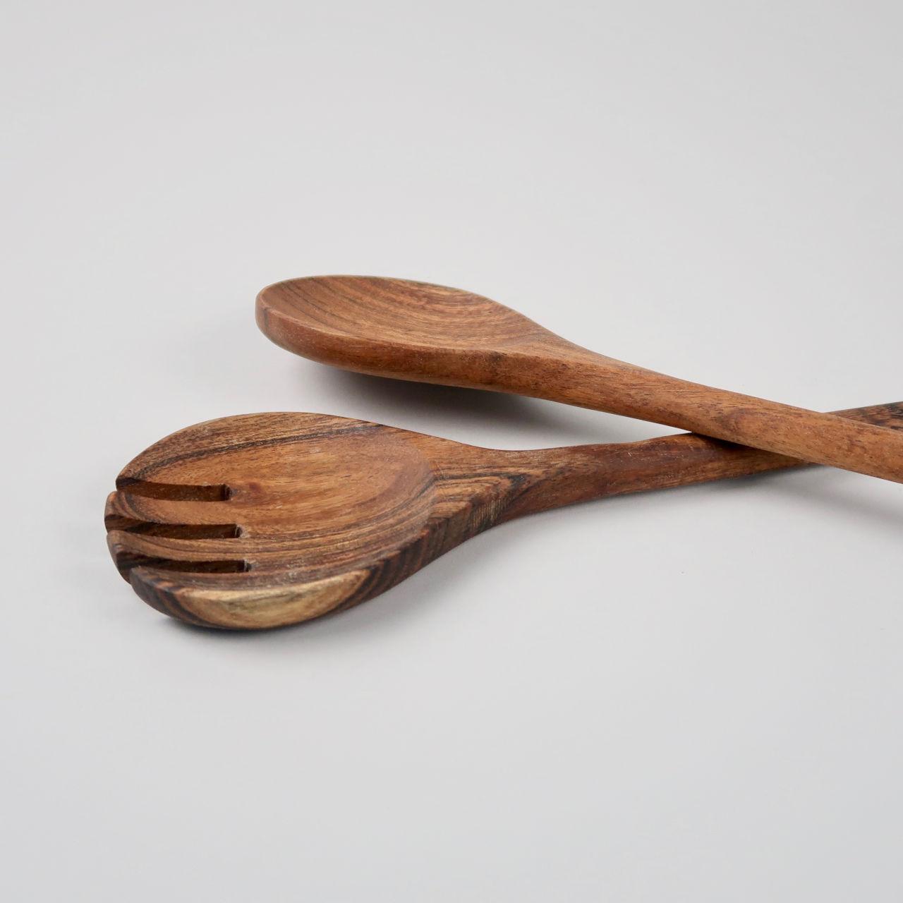 Pair of Acacia Wood Salad Servers