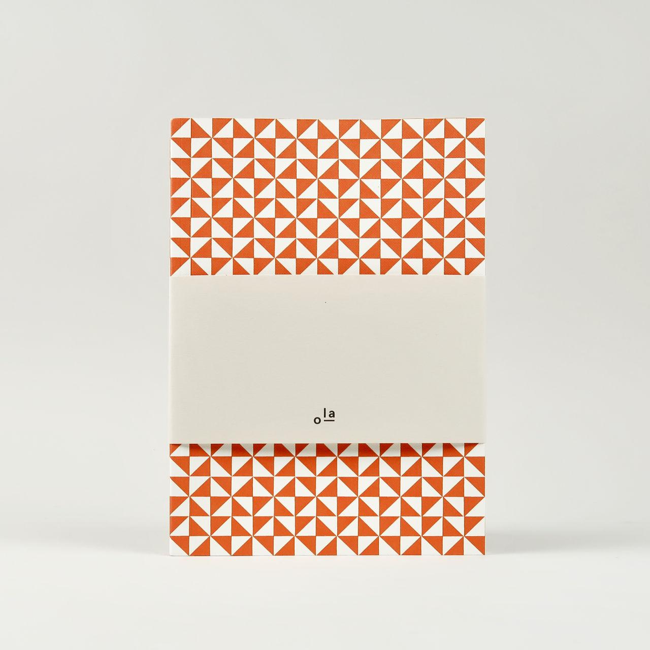 Layflat Notebook - Kaffe Print in Brick Red