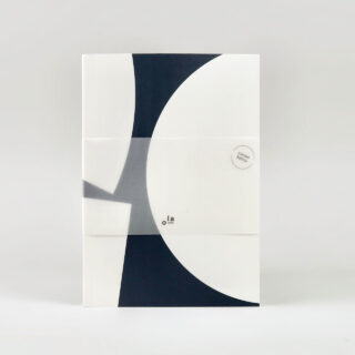 Layflat Notebook - Blocks Print in Blue