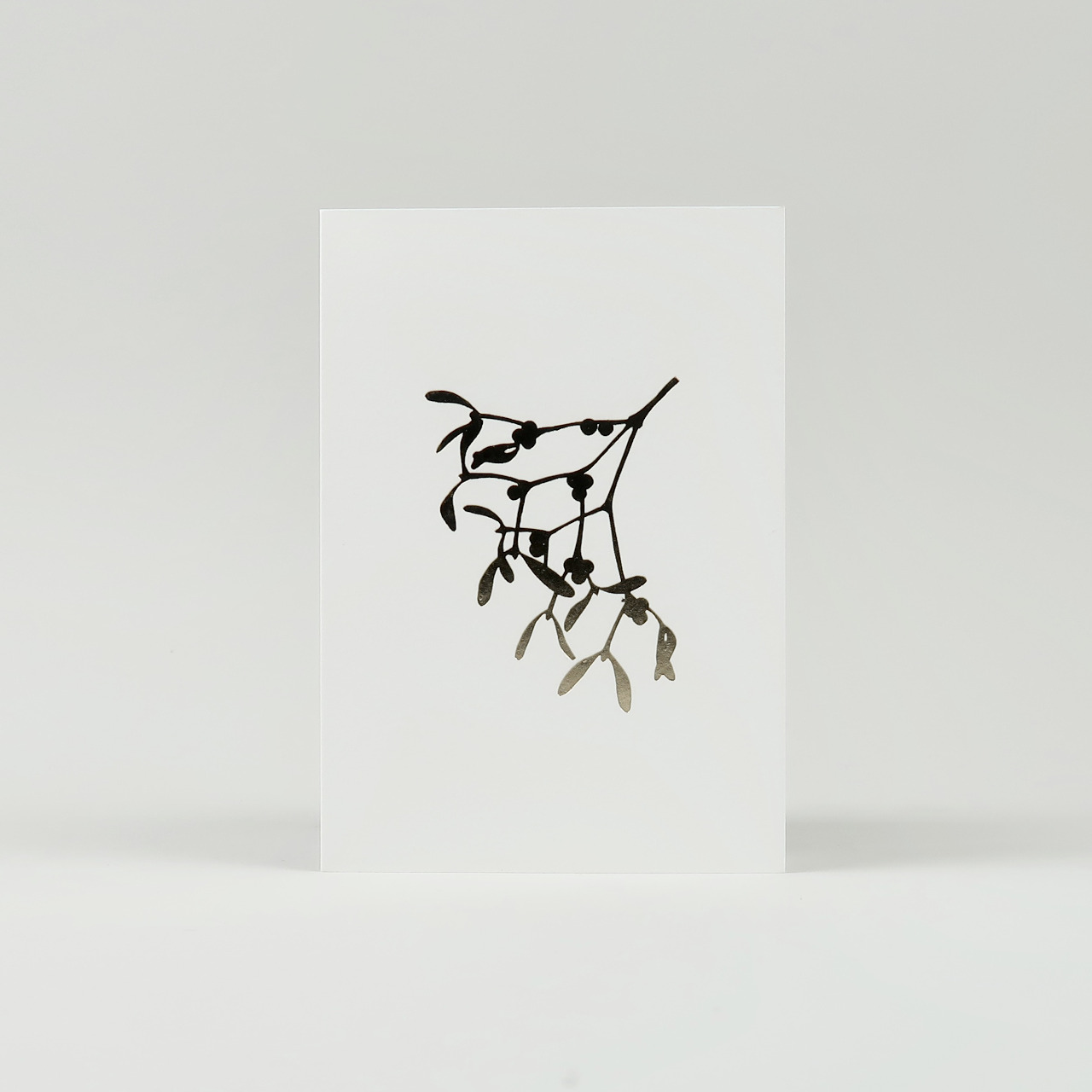 Mistletoe Print Christmas Cards - Pack of 6