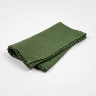 Olive Green 100% Linen Napkin - handmade in Ludlow