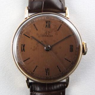 4ct pink gold vintage wristwatch, circa 1943