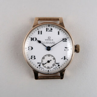 Omega Cal. 26.5 retailed by T. A. Henn & Son hallmarked 1928 | 9ct gold manual vintage wristwatch