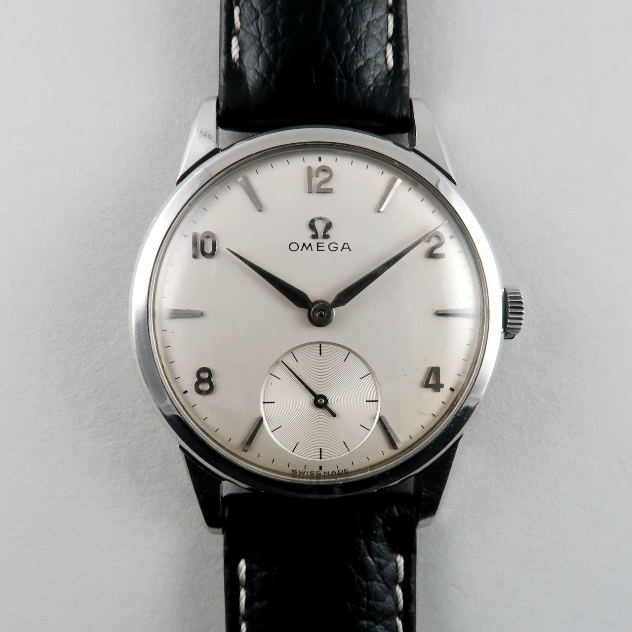 Omega Cal. 267 circa 1959   steel manual wind vintage wristwatch
